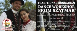 Hungarian folk dance workshop from Szatmár region